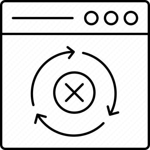 browser, cancel, close, refresh icon