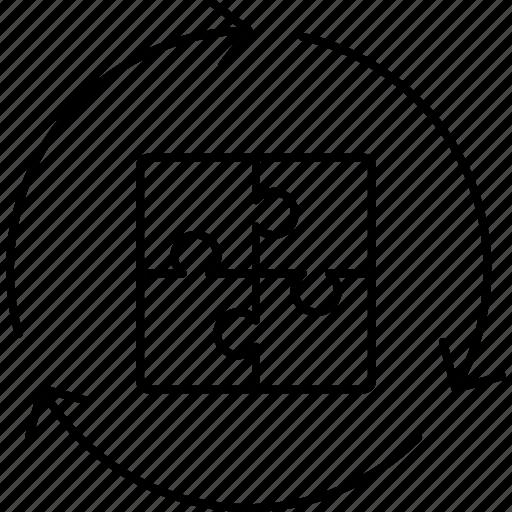jigsaw, reload, solution, teamwork icon