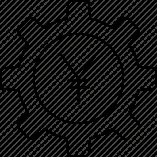 configure, preference, setting, yen icon