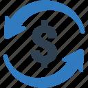banking, dollar, exchange rate, finance, money transaction, money transfer icon