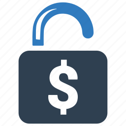 dollar, lock, locked, money, security icon
