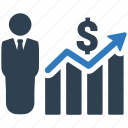 analytics, bar chart, business report, finance, financial, graph, statistics icon