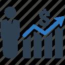 analytics, bar chart, business report, finance, financial, graph, statistics icon