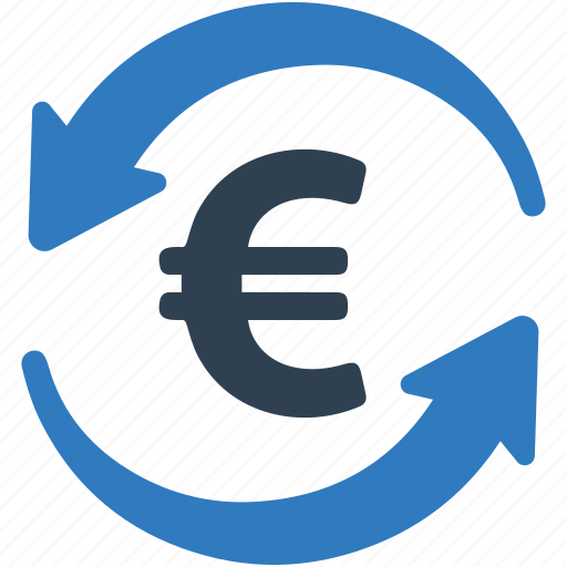 currency, euro, exchange rate, finance, transfer money icon