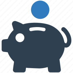 bank, coin, deposit, investment, money, piggy, savings icon