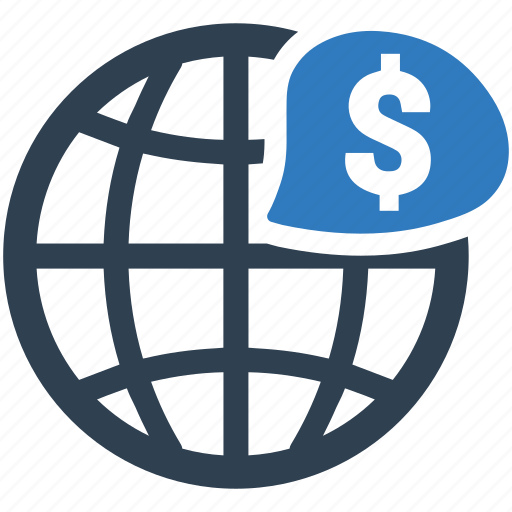 banking, currency, finance, global investment, money icon