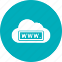 cloud, link, weather, www, www. icon