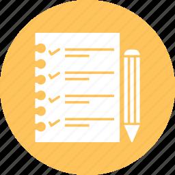 note, paper, write icon