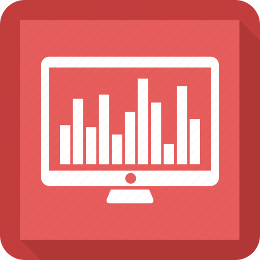 bar, computer, desktop, growth bar, mac, monitor icon