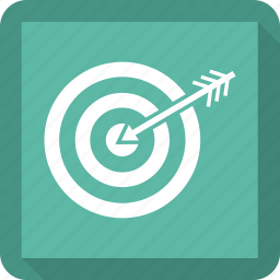 arrow, board, bow, target icon