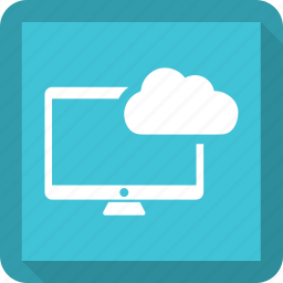 cloud, computer, monitor, pc icon