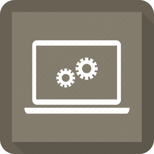 computer, laptop, notebook, setting, technology icon