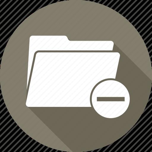 data, doc, folder, minus, open icon