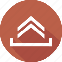 arrow, chevron, direction, up icon