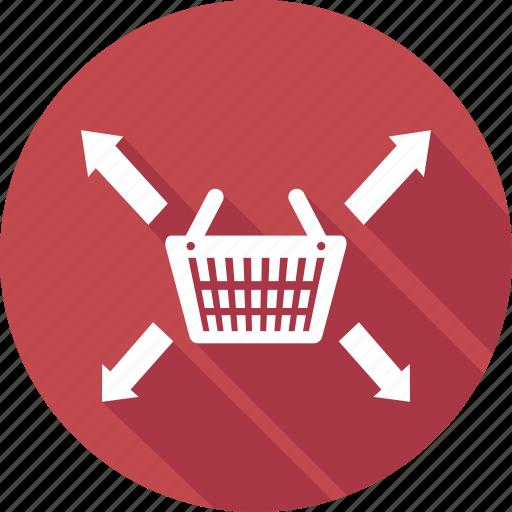 arrow, basket, cart, left, right, shop, shopping icon