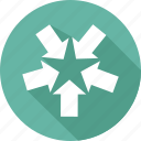 arrow, down, left, right, up icon