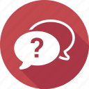 chat, communication, message, question icon