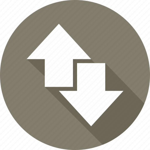 arrows, directions, down, up icon