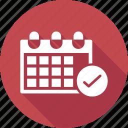 calendar, check, date, events icon