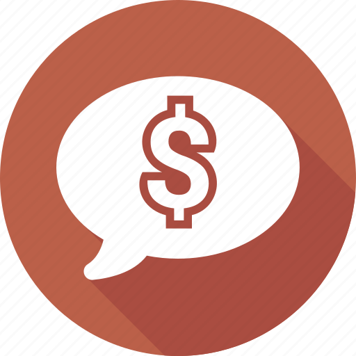 chat, communication, dollar, message icon