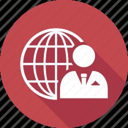 globe, man, user, world icon