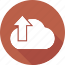 arrow, cloud, download, up icon