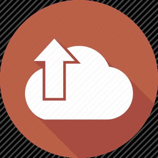 arrow, cloud, download, up icon