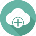 cloud, pluse icon