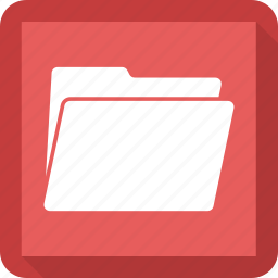 data, doc, folder, open icon