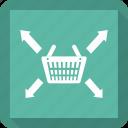 basket, coop, longico, market, market basket icon