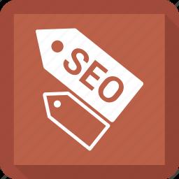 optimization, promotion, seo, tag icon