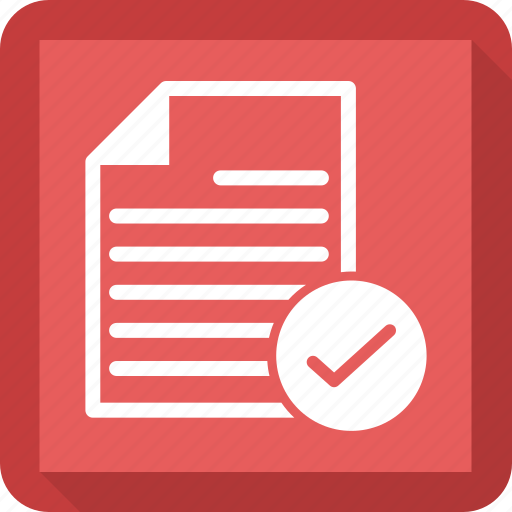 check, document, extension, file icon