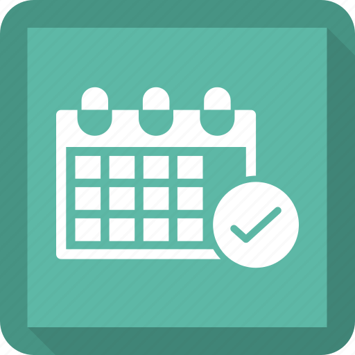 calendar, check, date, events icon