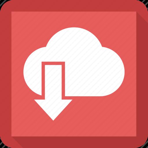 cloud, down icon