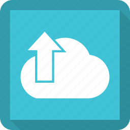 cloud, up icon
