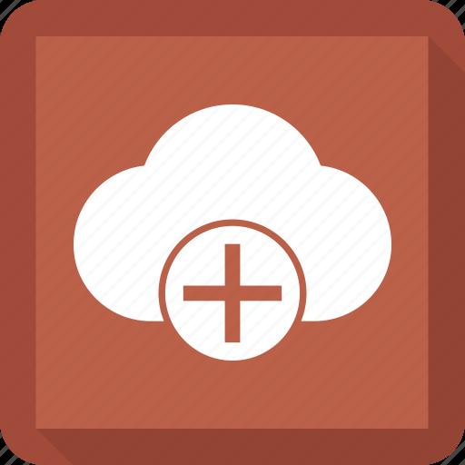cloud, pluse icon