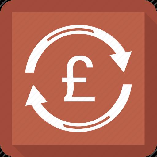 finance, funds transfer, money, pound, transaction icon