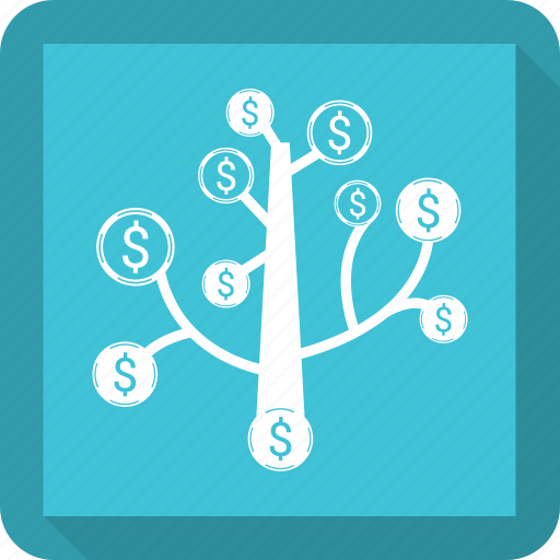 business, growth, money, plant icon