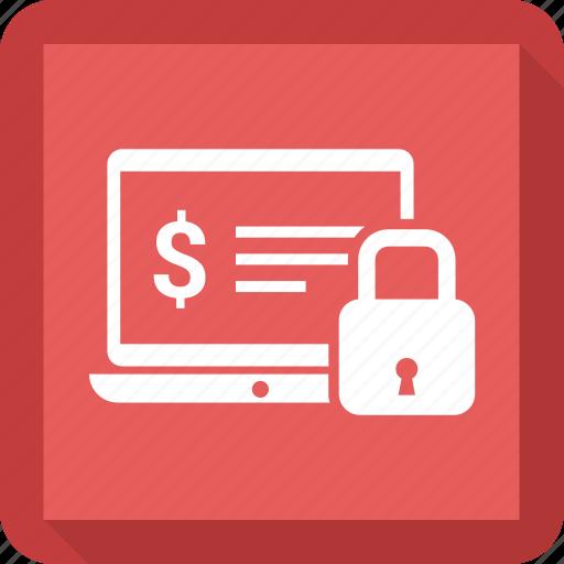 computer, dollar, laptop, lock, macbook icon