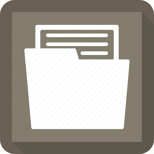 busy, document, folder, open icon