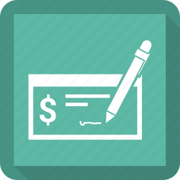 bank check, finance, payment icon