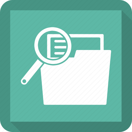 find, folder, magnify, search icon