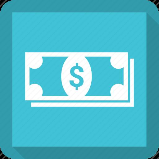 business, dollar, money, paper dollar icon