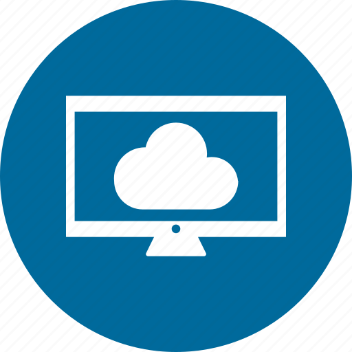 cloud, computer, infographic, monitor, screen icon