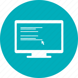 computer, infographic, monitor, screen icon