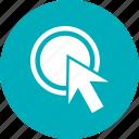 click, interface, pointer icon