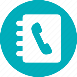 address book, book, contacts, phone book icon