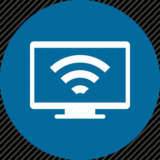 display, monitor, screen, wifi icon