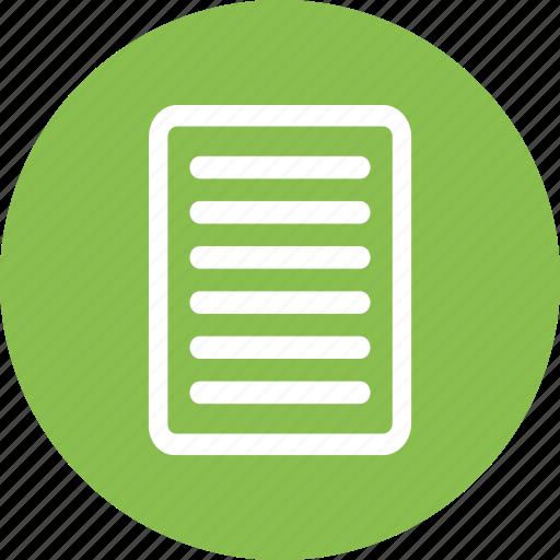 documentation, documents, paper, portfolio icon