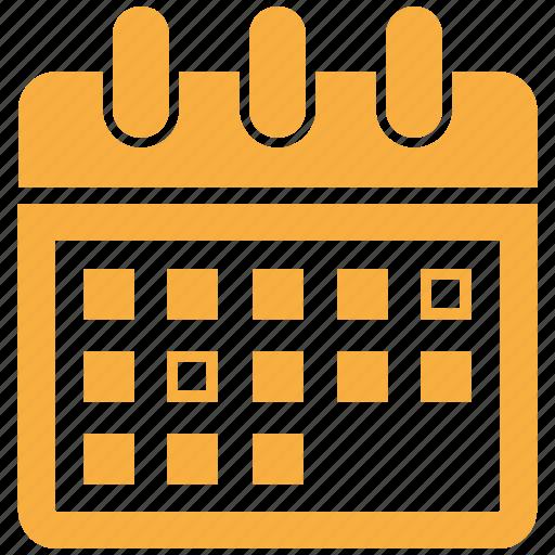 calendar, event, month, period, schedule icon